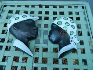 Jamaican Man and Woman Head Wall Hangings Signed