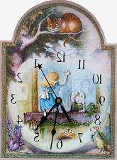 Through the Looking Glass Clock, Alice home decor, runs backwards, U.S.A.