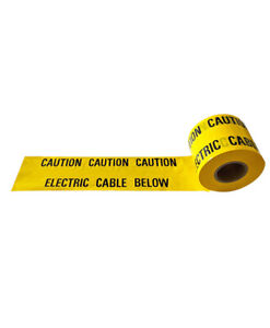 UNDERGROUND WARNING TAPE 150MM X 365MTR CABLE BELOW CAUTION ELECTRIC