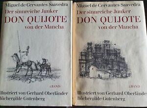 Don Quijote von der Mancha, 1+2, Miquel de Carvantes Saavedra, wie NEU