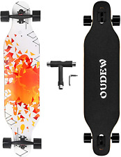 Longboard Skateboard, 41 Inch 8 Layer Canadian Maple Drop Through Longboards for