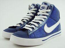 Nike High Top Basketball Shoes Sneakers Metallic Crocodile Blue - Men's 8.5 EUC!