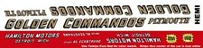 GOLDEN COMMANDOS PLYMOUTH 1963-1965 NHRA DRAG 1/43rd Scale Slot Car Decals