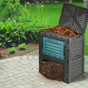 Eco Friendly 300L Garden Composter Bin Organic Waste Compost Converter