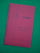 LUCAS SERVICE SCHOOL ELECTRICAL COURSE BROCHURE - 1960's