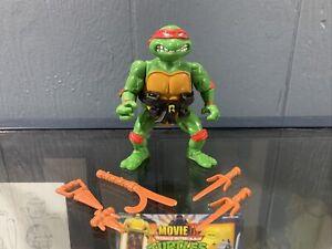 Vtg 1988 TMNT HARD HEAD RAPHAEL 100% Complete Figure Teenage Mutant Ninja Turtle