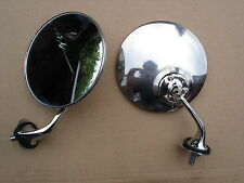 PAIR Polished Stainless Steel Wing Mirrors Triumph Herald Vitesse MG MGA Midget