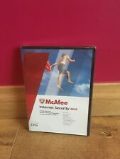 BRAND NEW McAfee Internet Security 2010 - Protects 3 x PC's - 1 Year Antivirus