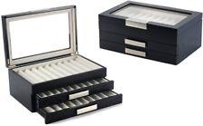 LOOK 1-3029-3 Schwarze Design Holz Stifte Vitrinen Box Display Für 30 Füller