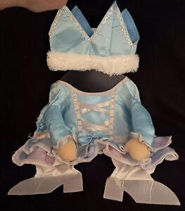 NWT-Princess Dog Costume Size Med Halloween Dress-Up 2-Piece Blue Dress W/ Crown