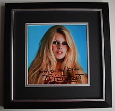 Brigitte Bardot SIGNED Framed LARGE Square Photo Autograph display Film & COA