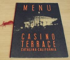 "1948 MENU to ""CASINO TERRACE"" Catalina CALIFORNIA~Great GRAPHICS~"