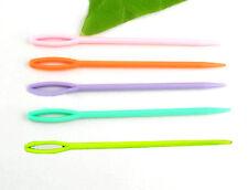 20 Pz Uncinetto Plastica A Maglia Calze Cotone Lana Colorati 7cm Novità