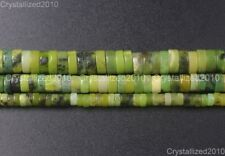 "Natural Australian Chrysoprase Gemstone Heishi Beads Spacer 4mm 6mm 8mm 10mm 16"""