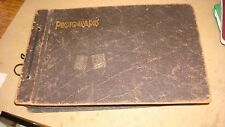 Vintage Original Photo Album 1930's40's Huge 290 Lot Indexed Places Trains Ships