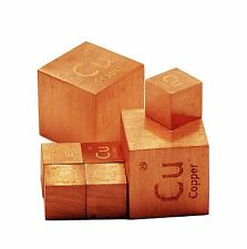 Copper Metal 10mm Density Cube 99.95% Pure for Element Collection
