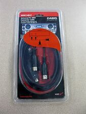 Casio Universal PC MIDI Connector Cable for Portable Keyboard FREE SHIPPING Pegs
