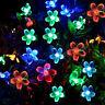 50LED Solar Power Cherry Fairy Light String Lamp Party Xmas Decor Garden Outdoor