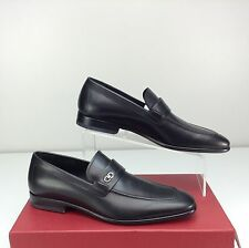Salvatore Ferragamo Men's Paros Loafer Dress Shoes US 6.5 D Nero Black Gancio