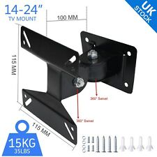 Universal Rotating LCD Monitor TV Bracket Wall Mount For 14 15 17 19 22 24 US