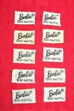 Vintage Barbie From Old Clothes Black & White Barbie Label Lot!