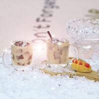 1Pc 1/12 Dollhouse Miniature Accessories Mini Resin Coffee milk jelly Drinks 3C