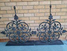 More details for magnificent pair of  vintage antique old railing lamps