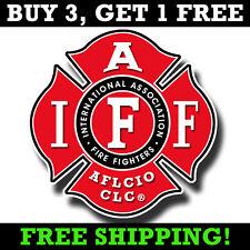 Fireman IAFF Decal - Firefighter Maltese Cross Sticker AFLCIO