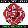 "IAFF 4"" Decal - Firefighter Maltese Cross Sticker"