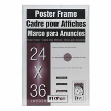 """Burnes Clear U-channel Poster Frame - 36"""" X 24"""" Insert - Wall Mountable -"""