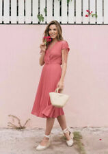 NEW Gal Meets Glam Angelica Chiffon Pleated Dress Size 4P Petite $198