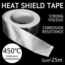 25M x 5cm Aluminum Reinforced Heat Shield Tape Adhesive Backed Resistant 450℃ AU