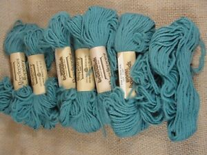 Vintage 7 Skeins Brunswick Tapestry Wool 1718 Lt Rich Teal Blue 40yd New but one