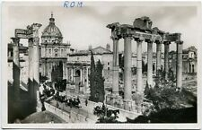 Primi '900 Roma - Porta el Foro Romano con nuovi scavi carrozze cavalli FP B/N