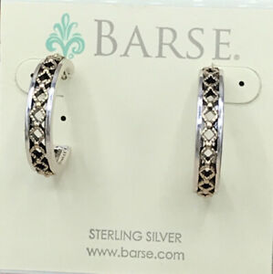 Barse Paloma Hoop Earrings- Mixed Metal- New With Tags
