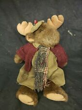 "18"" Bearington Collection Moose Cable knit sweater winter plush Rare (h5)"