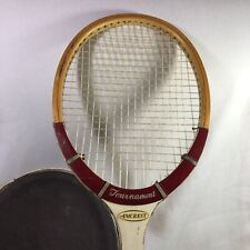 Amcrest Tournament Vintage Wooden Tennis Racket