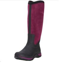 Muck Boots Women's Arctic Adventure Zip Suede Boot-Black/Purple Size 7