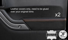ORANGE  STITCH 2X FRONT DOOR ARMREST LEATHER COVERS FITS JEEP WRANGLER 2011-2017