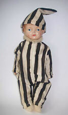Antique Yama-Yama 1900's Novelty Composition Doll w/ Jester  220 Fifth Ave NY