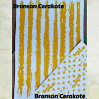 Tattered Stars & Stripes Pistol Stencil Kit | High Heat Vinyl | Gun Cerakote
