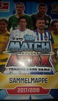 Topps Match Attax Bundesliga 17 18  full set  + binder  ohne limitierte Karten