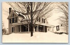 Vintage RPPC Postcard House w/ Son in Service One Star Flag Military WWI C8