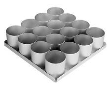 "Alan Silverwood 16 Piece 2"" Inch (5cm) Mini Round Cake Tin Pan Set"