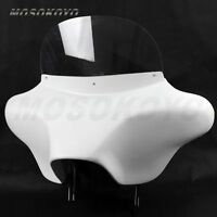 Motorcycle 6x9 Speakers Stereo Windshield Fairing Detachable Batwing For Harley