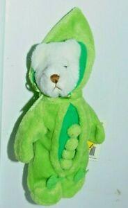 """Ganz 7"""" Wee Bear Plush - Bear in Sweetpea Suit"""