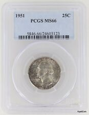 1951 Washington Silver Quarter PCGS MS66 Toned