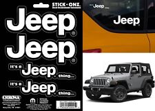 4pc Chroma 009991 It's A Jeep Thing Decals For All Jeep Models New Free Shipping