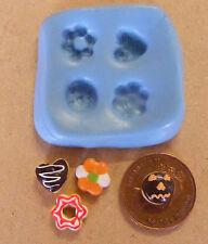 1:12 Reutilizable cuatro Galleta Molde-Molde De Casa de muñecas en miniatura de comida Accesorio