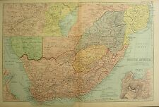 1894 ANTIQUE MAP ~ SOUTH AFRICA ~ CAPE COLONY ORANGE FREE STATE CAPE TOWN